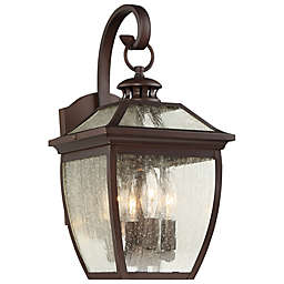 The Great Outdoors® Sunnybrook 17-Inch Wall-Mount Lantern in Alder Bronze