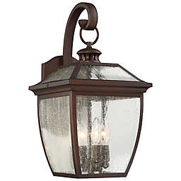 The Great Outdoors® Sunnybrook 19-Inch Wall-Mount Lantern in Alder Bronze