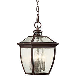The Great Outdoors® Sunnybrook 4-Light Chain-Hung Lantern in Alder Bronze