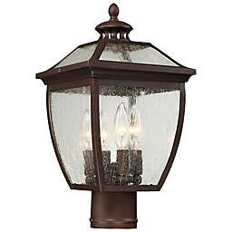 The Great Outdoors® Sunnybrook 4-Light Post-Mount Lantern in Alder Bronze