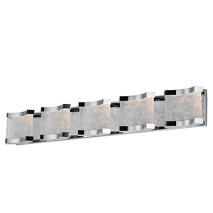 Alternate image 1 for Maxim Lighting Curl LED 10-Light Wall Mount Vanity Light in Polished Chrome with Glass Shades