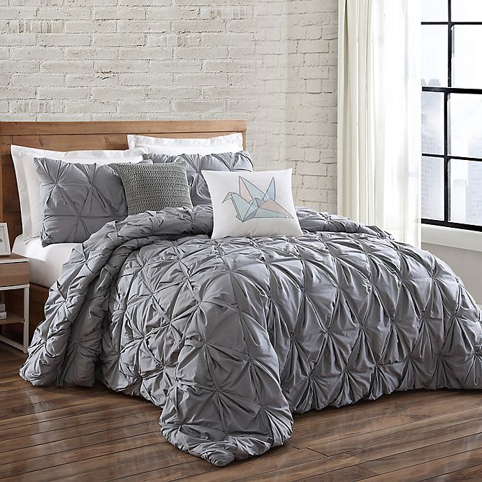 Alternate image 1 for Brooklyn Loom Jackson Pleated Duvet Set