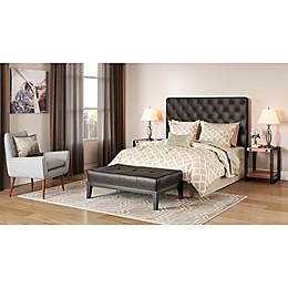 Geometric Elegance Traditional Bedroom