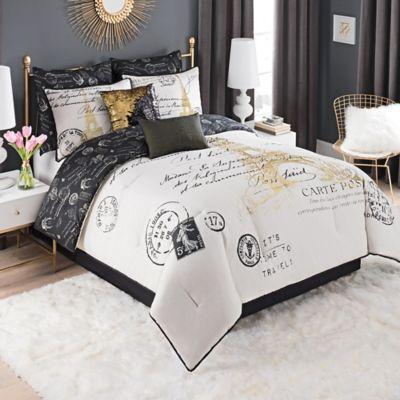 Paris Gold Bedding Collection | Bed Bath & Beyond