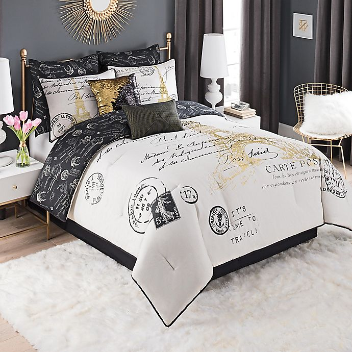 paris king size comforter set Paris Gold Comforter Set | Bed Bath & Beyond paris king size comforter set