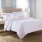 Blossoms 5-Piece King Comforter Set in Pink/White
