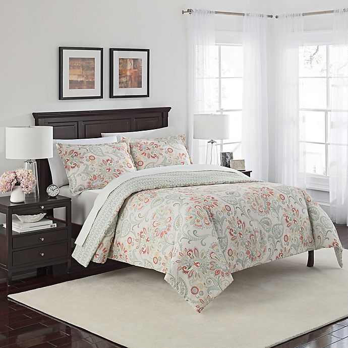 Alternate image 1 for Marble Hill Carlisle Reversible 3-Piece Queen Comforter Set