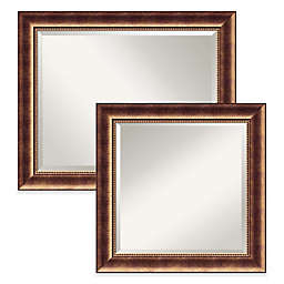 Amanti Art Manhattan Wall Mirror in Bronze