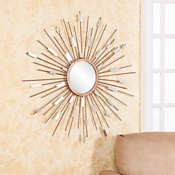 Southern Enterprises 36-Inch Starburst Mirrored Wall Sculpture in Gold
