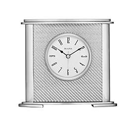 Bulova Hewitt Table Clock in Silver