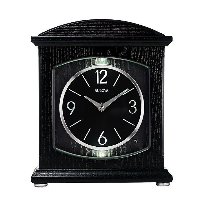 Alternate image 1 for Bulova Glendale Bluetooth Table Clock in Black