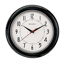Bulova Kitchen Plus Clock in Black/Silver
