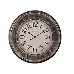 Bulova Restoration Weathered Wood Wall Clock