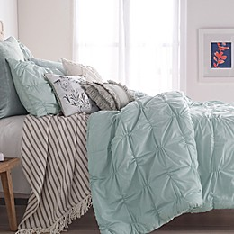 Peri Home Check Smocked Comforter Set