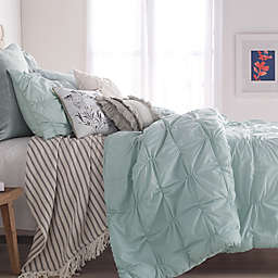 Peri Home Check Smocked Duvet Cover