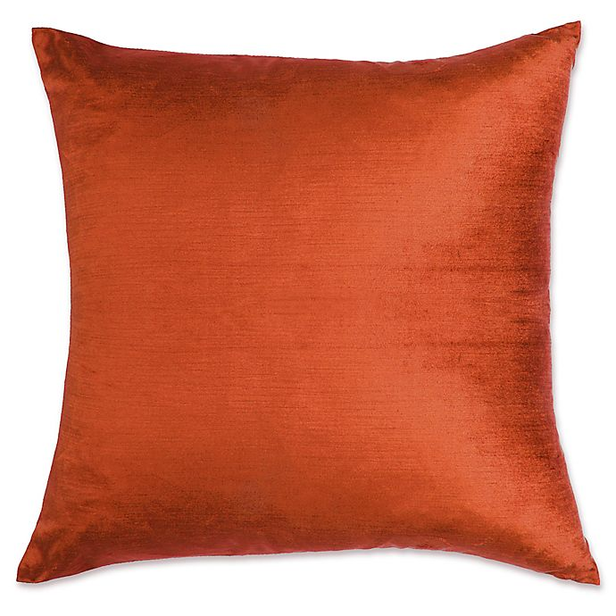 buy make your own pillow grace square throw pillow cover in rust from bed bath beyond. Black Bedroom Furniture Sets. Home Design Ideas