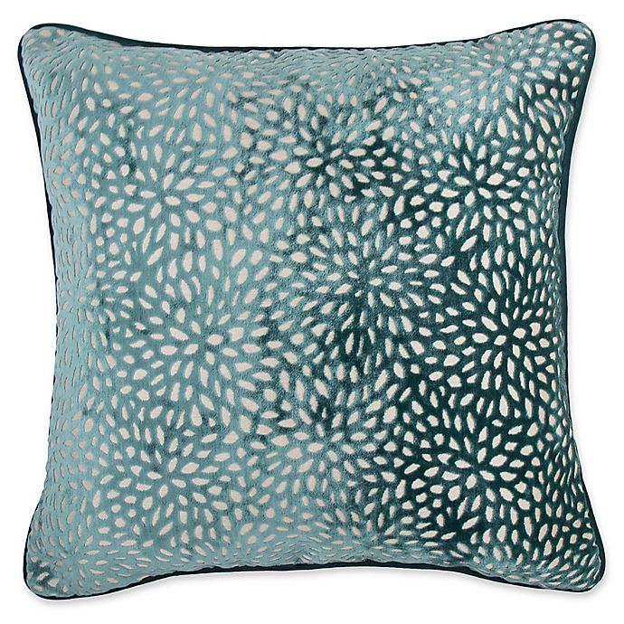 buy make your own pillow karst square throw pillow cover in teal from bed bath beyond. Black Bedroom Furniture Sets. Home Design Ideas