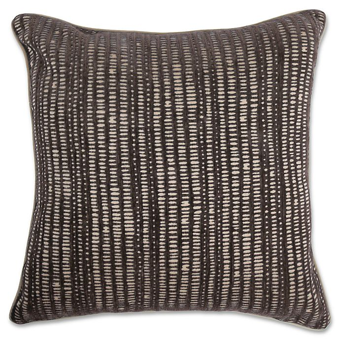 Alternate image 1 for Make-Your-Own-Pillow Manuscript Square Throw Pillow Cover in Brown