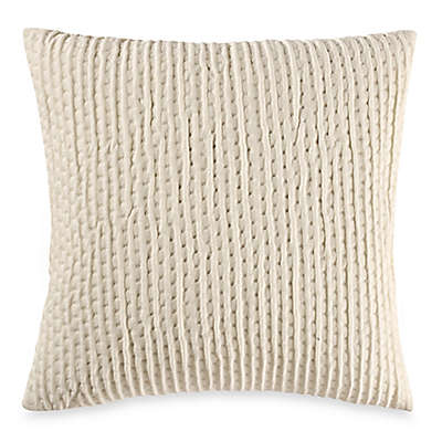 Make-Your-Own-Pillow Ticker Stitch Square Throw Pillow Cover