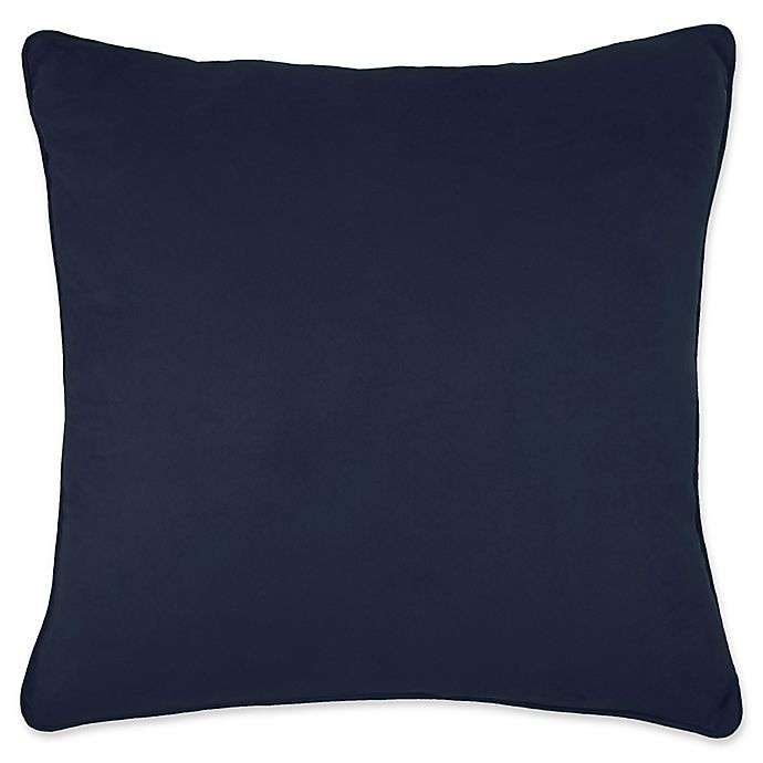 Alternate image 1 for Make-Your-Own-Pillow Izmir Suede Throw Pillow Cover in Indigo