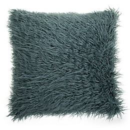Make-Your-Own-Pillow Simon Fur Square Throw Pillow Cover
