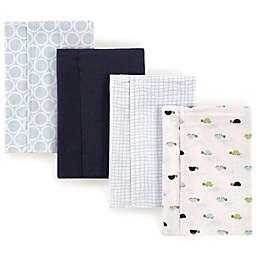 Luvable Friends® 4-Pack Turtle Burp Cloth Set in Blue
