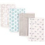 Luvable Friends® 4-Pack Elephant Burp Cloth Set in Teal