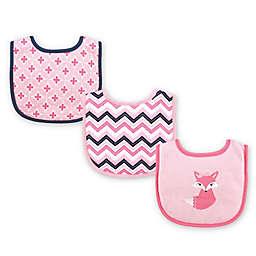 Luvable Friends® 3-Pack Foxy Drooler Bib Set in Pink