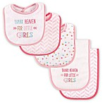 Luvable Friends® 5-Pack  Thank Heaven for Little Girls  Bib and Burp Cloth Set in Pink