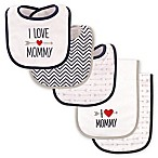 Luvable Friends® 5-Pack  I Love Mommy  Bib and Burp Cloth Set in Blue