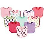 Luvable Friends® 10-Pack Dots Drooler Bib Set in Pink