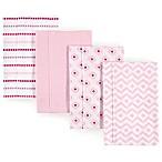 Hudson Baby 4-Pack Chevron Burp Cloth Set in Pink