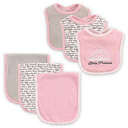 BabyVision® Hudson Baby® 6-Piece Princess Bib and Burp Cloth Set in Pink