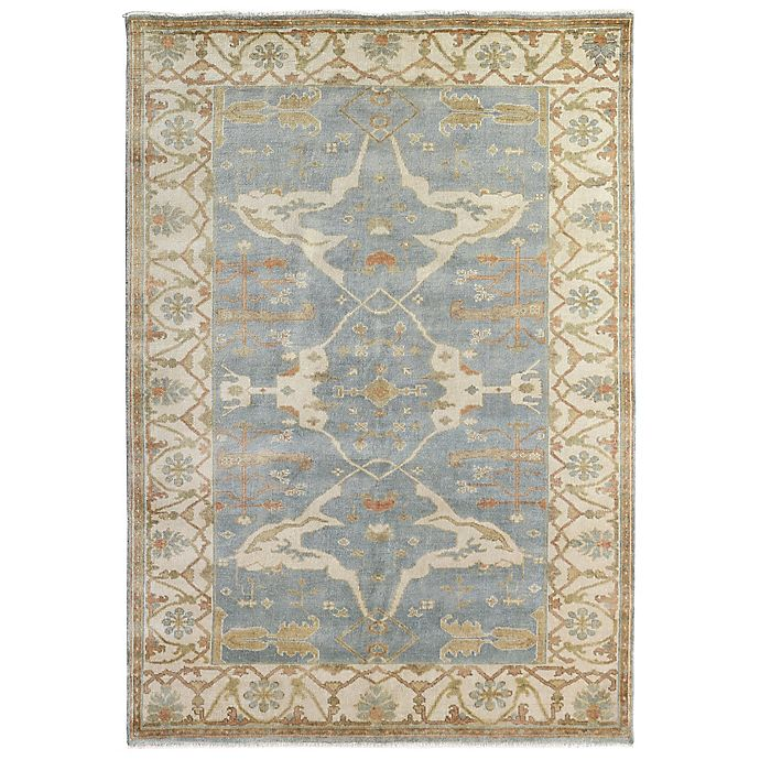 Alternate image 1 for Exquisite Rugs Oushak 8-Foot x 10-Foot Area Rug in Blue/Ivory