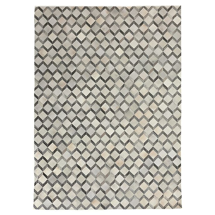 Alternate image 1 for Exquisite Rugs Natural Hide 8-Foot x 11-Foot Area Rug in Ivory/Silver