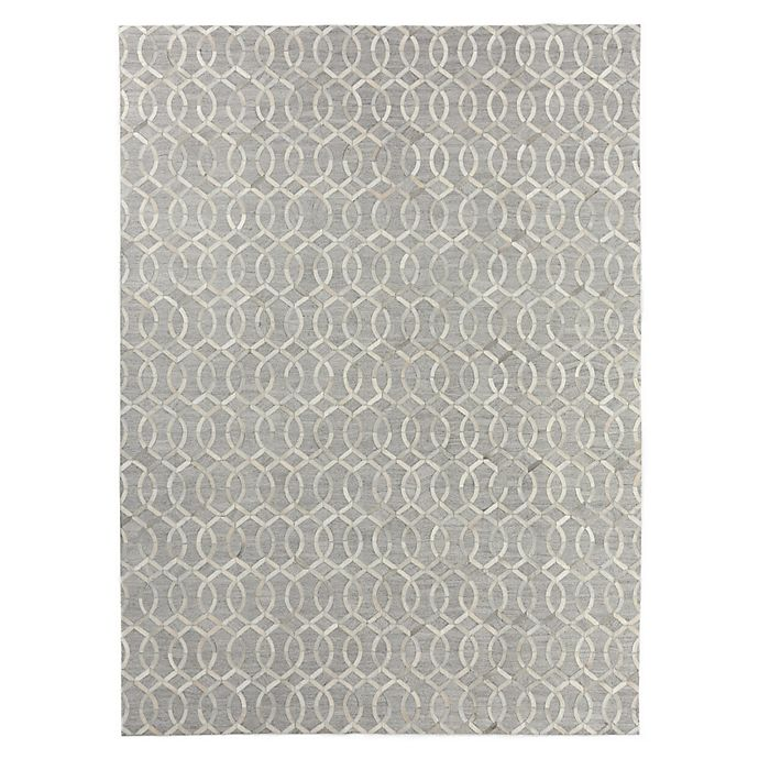Alternate image 1 for Exquisite Rugs Berlin Lattice 8-Foot x 11-Foot Area Rug in Silver/Ivory
