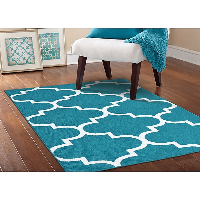 Buy Garland Large Quatrefoil 5-Foot X 7-Foot Area Rug In