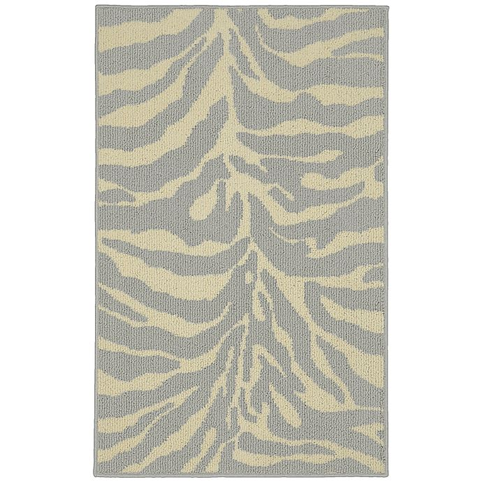 Alternate image 1 for Garland Safari 2-Foot 6-Inch x 3-Foot 10-Inch Accent Rug in Silver/Ivory