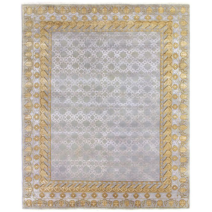 Alternate image 1 for Exquisite Rugs Khotan 8-Foot x 10-Foot Area Rug in Silver/Gold
