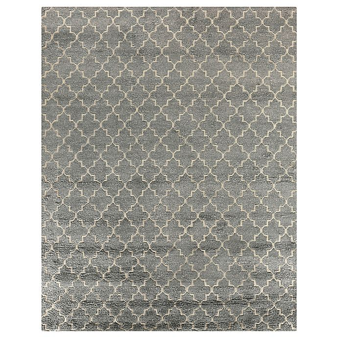 Alternate image 1 for Exquisite Rugs Luxe Look 8-Foot x 10-Foot Area Rug in Silver