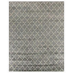 Exquisite Rugs Luxe Look 8-Foot x 10-Foot Area Rug in Silver