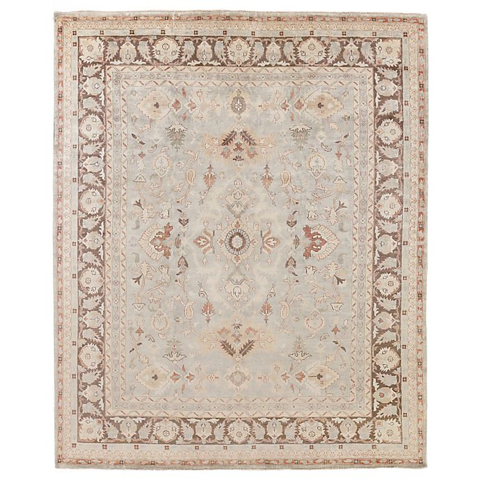 Alternate image 1 for Exquisite Rugs Antique Weave Oushak 8-Foot x 10-Foot Area Rug in Grey/Brown