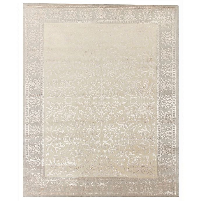 Alternate image 1 for Exquisite Rugs Milano Velvet 8-Foot x 10-Foot Area Rug in Ivory