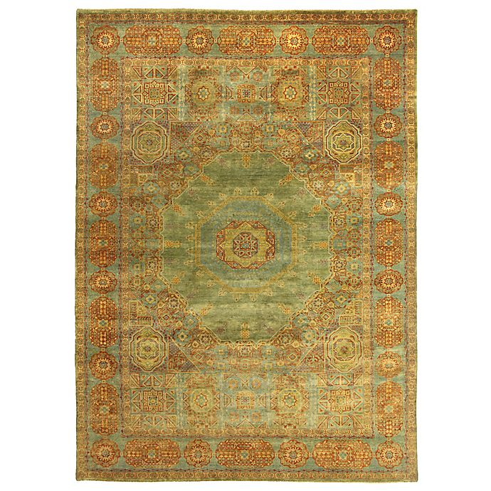 Alternate image 1 for Exquisite Rugs Mamluk 8-Foot x 10-Foot Area Rug in Green/Light Blue