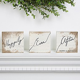 Happily Ever After Shelf Blocks (Set of 3)
