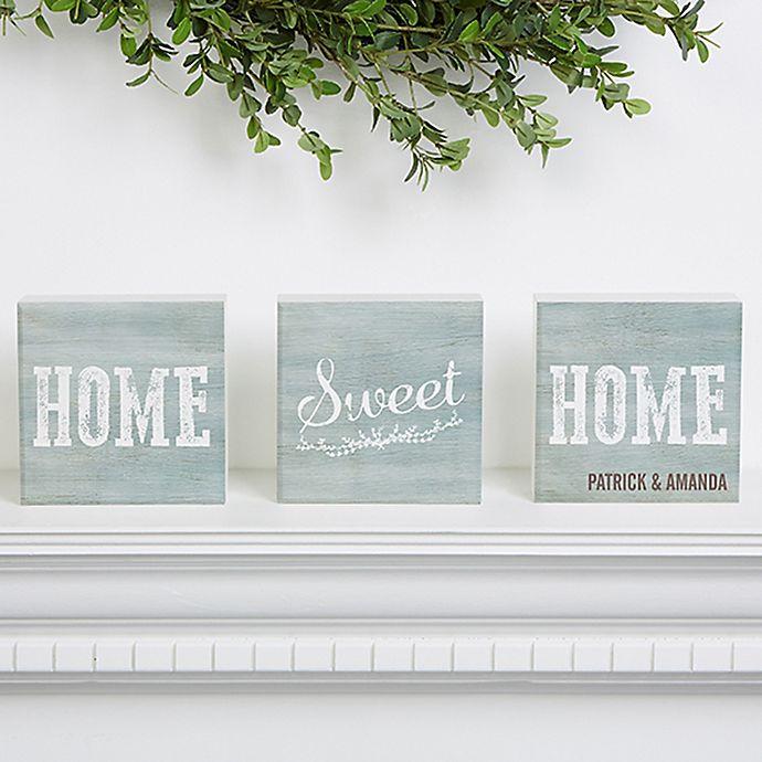 Alternate image 1 for Home Sweet Home Shelf Blocks (Set of 3)