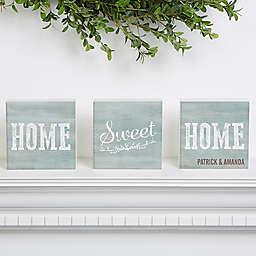 Home Sweet Home Shelf Blocks (Set of 3)