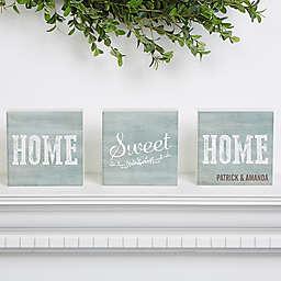 Home Sweet Home Shelf Blocks (Set of 3)