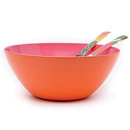 French Bull® Two-Tone Large Serving Bowl in Orange/Pink
