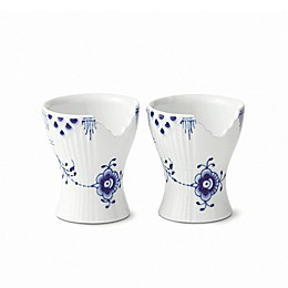 Royal Copenhagen Elements Egg Cups in Blue (Set of 2)